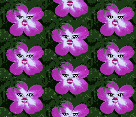 Kawaii flower fabric by triciafrances on Spoonflower - custom fabric