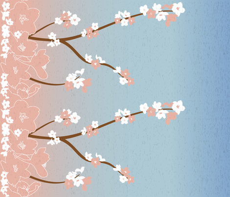 Cherry Blossom Branches fabric by design_it on Spoonflower - custom fabric
