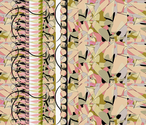 Faux Layers Border fabric by karendel on Spoonflower - custom fabric