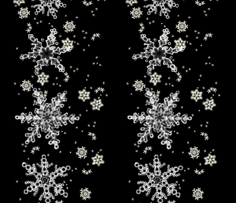 Snowflake Border fabric by juliamonroe on Spoonflower - custom fabric