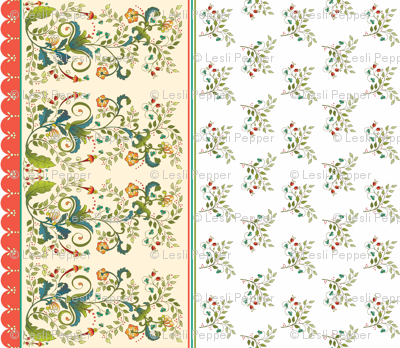 Russian Floral Border