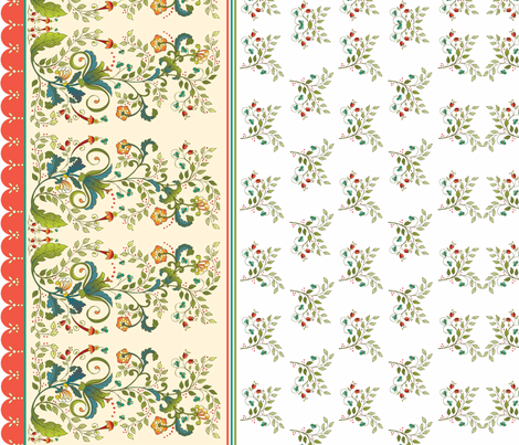 Russian Floral Border fabric by leslipepper on Spoonflower - custom fabric