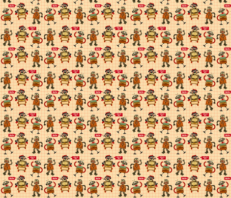 Rascally Robots fabric by gomakeme on Spoonflower - custom fabric