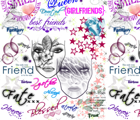 Friendsship Collage-sm fabric by art_to_fabric on Spoonflower - custom fabric