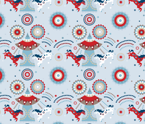 Carousel_americana fabric by chulabird on Spoonflower - custom fabric