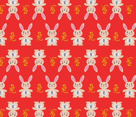 yearoftherabbit_red fabric by sharlenebaldwin on Spoonflower - custom fabric