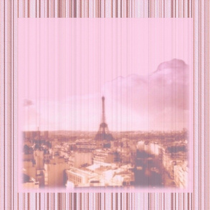 La Vie en Rose Striped Square