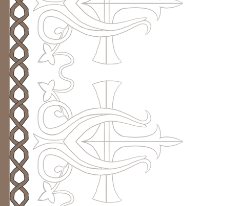 harp border fabric by icetigris on Spoonflower - custom fabric
