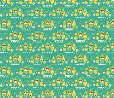 Kawaii Friends fabric by smilerecipe on Spoonflower - custom fabric