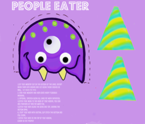 People Eater Mask fabric by namastemama on Spoonflower - custom fabric