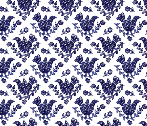 BlueBird fabric by yellowstudio on Spoonflower - custom fabric