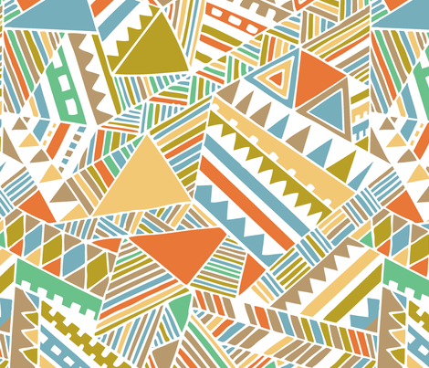 Tribal beats fabric by chulabird on Spoonflower - custom fabric
