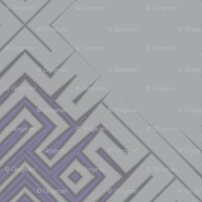 Grey Zones Triangle Plaid in Purple © 2009 Gingezel Inc.
