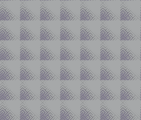 Grey Zones Triangle Plaid in Purple © 2009 Gingezel Inc. fabric by gingezel on Spoonflower - custom fabric