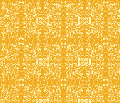 Vintage Yellow and Cream fabric by tessiegirldesigns on Spoonflower - custom fabric