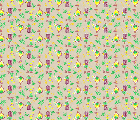 Island Girls -294 fabric by kkitwana on Spoonflower - custom fabric