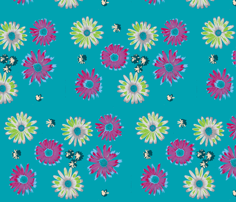 floral green delight fabric by arteija on Spoonflower - custom fabric