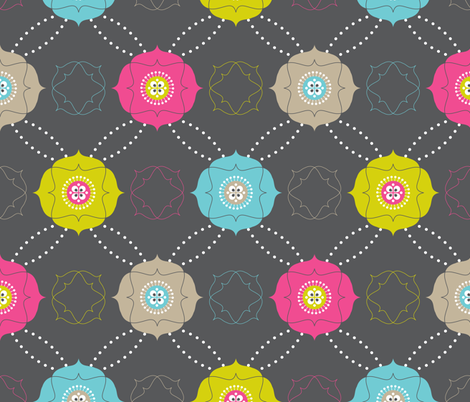 Merry Flowers fabric by zesti on Spoonflower - custom fabric