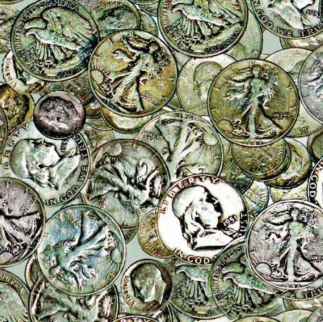 Coins  fabric by paragonstudios on Spoonflower - custom fabric