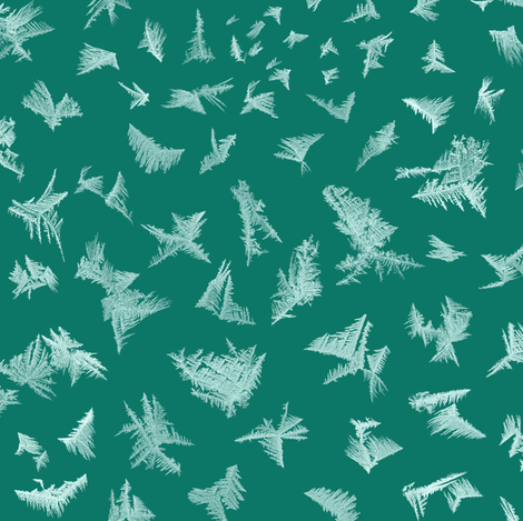 frost on pine green fabric by weavingmajor on Spoonflower - custom fabric
