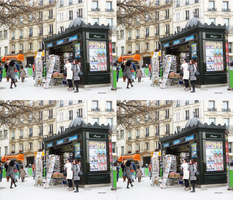News Kiosk, Paris fabric by susaninparis on Spoonflower - custom fabric