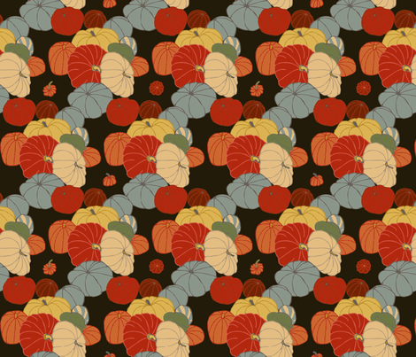pumpkins & gourds fabric by lfntextiles on Spoonflower - custom fabric