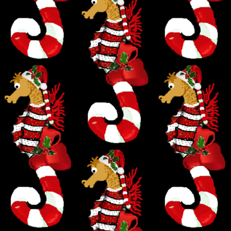 Simon the Seahorse Canes fabric by paragonstudios on Spoonflower - custom fabric