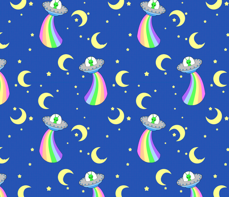 Cute Alien 2 fabric by shala on Spoonflower - custom fabric