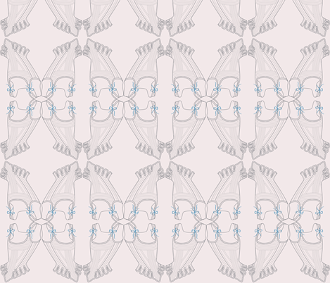 Marie Antoinette Stays in Blush fabric by electra_designs on Spoonflower - custom fabric