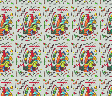 Kwanzaa Feedsack-299 fabric by kkitwana on Spoonflower - custom fabric