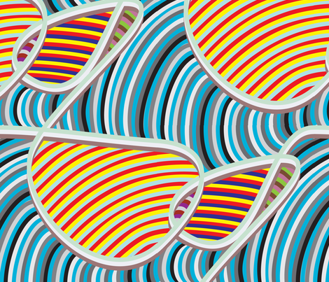 Candy Ribbon in Taffy fabric by dolphinandcondor on Spoonflower - custom fabric