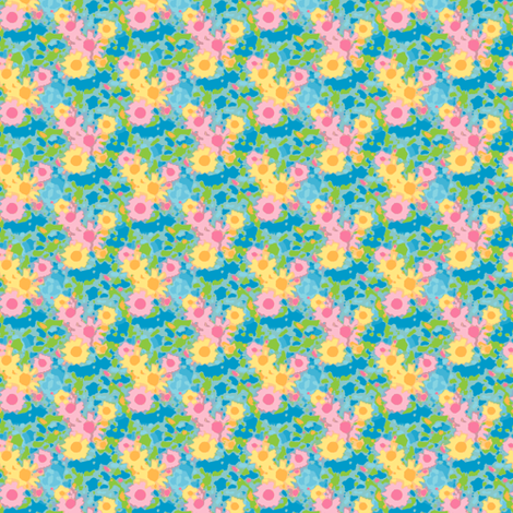 Claude's Daisy Impression - Storm Small fabric by inscribed_here on Spoonflower - custom fabric