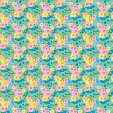 Claude's Daisy Impression - Storm fabric by inscribed_here on Spoonflower - custom fabric