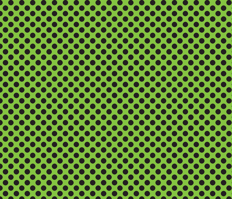 Halloween Lime/Black dots fabric by bellamarie on Spoonflower - custom fabric