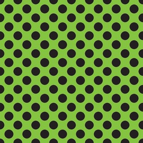 Halloween Lime/Black dots