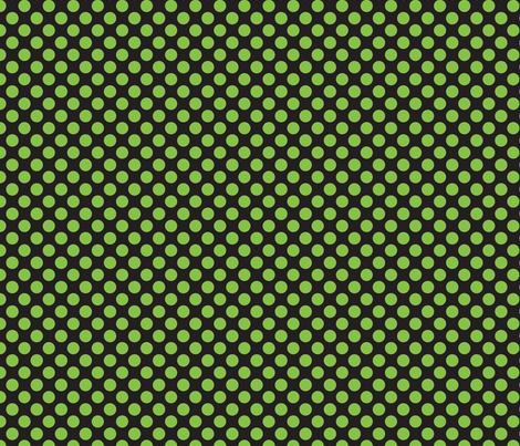 Halloween Black/Lime dots fabric by bellamarie on Spoonflower - custom fabric