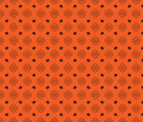 Halloween Spider Orange fabric by bellamarie on Spoonflower - custom fabric