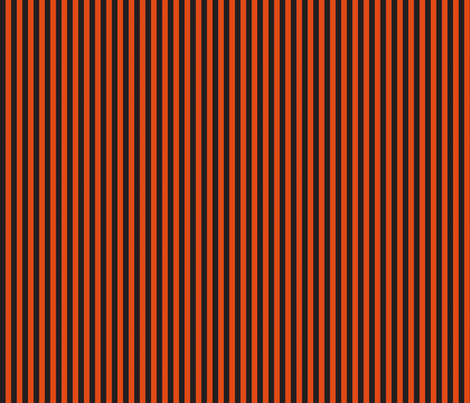 "Halloween 1/4"" stripe black/orange fabric by bellamarie on Spoonflower - custom fabric"
