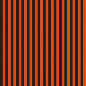 "Halloween 1/4"" stripe black/orange"