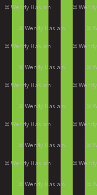 "Lime/black Halloween 1/4"" stripe"