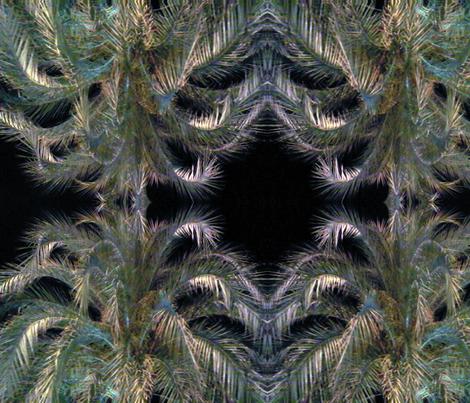 Palms by Night fabric by susaninparis on Spoonflower - custom fabric