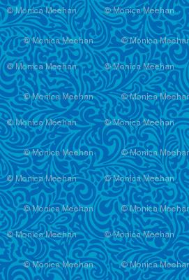 swirl botanical - azul