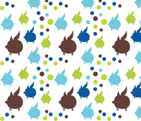 Piggy Dot fabric by miss_mari on Spoonflower - custom fabric
