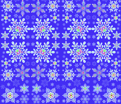 Snowflake Prisims fabric by robin_rice on Spoonflower - custom fabric
