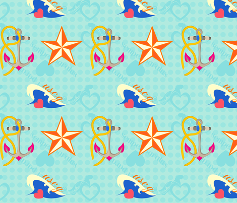 Coastie Love fabric by yourfriendamy on Spoonflower - custom fabric