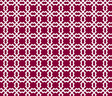 Geo Tile - Raspberry fabric by brownpaperpackages on Spoonflower - custom fabric