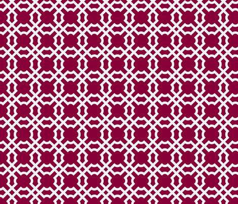 Geo Tile - Raspberry fabric by winterdesign on Spoonflower - custom fabric