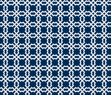 Geo Tile Midnight fabric by brownpaperpackages on Spoonflower - custom fabric