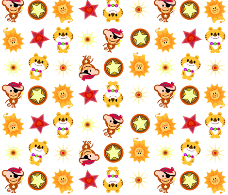 jungawaii fabric by scrummy on Spoonflower - custom fabric