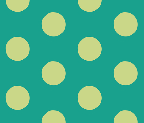 Lime Dots on Green